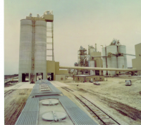 Cement, Coal, Homogenizing and Clinker Silos and Stack